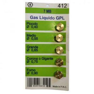 Набор жиклеров для газовых плит малый 0,4 мм, средний 0,55 мм, 0,65 мм, большой 0,75, для духовки 0,9 мм, резьба M7 W0412